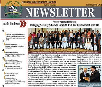 IPRI Newsletter September 2017