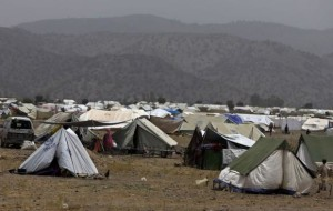 A general view of a refugee camp for displaced Pakistanis in Khost province