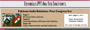 Pakistan-India Relations: Post-Congress Era