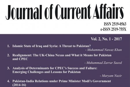 Journal of Current Affairs Vol. 2, No. 1, 2017