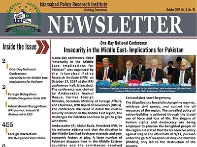IPRI Newsletter October 2017
