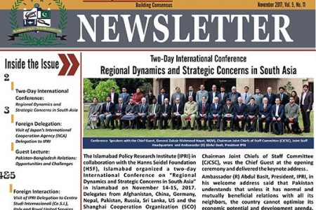 IPRI Newsletter for the Month of November 2017