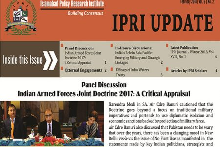 IPRI UPDATE for the Month of February 2018