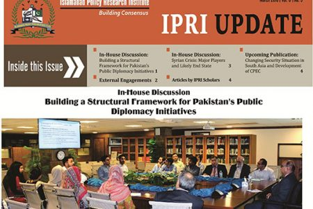 IPRI UPDATE for the Month of March 2018