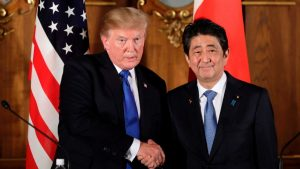 Abe Trump meeting