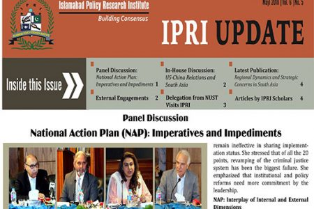 IPRI UPDATE for the Month of May 2018