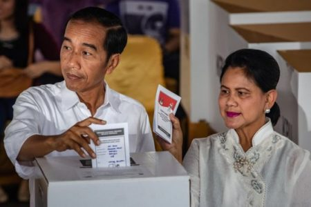 President Widodo's Lead in Presidential Race