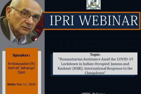 Webinar on Humanitarian Assistance amid the COVID-19 Lockdown in Indian-Occupied Jammu and Kashmir (IOJK): International Response to the Clampdown
