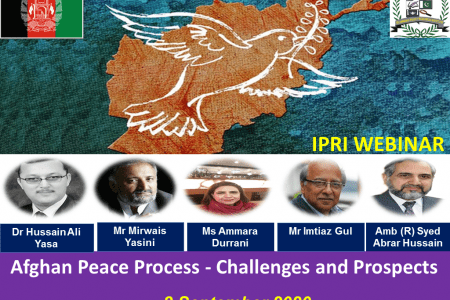 Webinar on Afghan Peace Process- Challenges and Prospects
