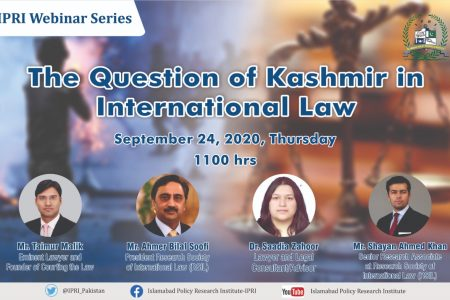 Webinar on The Question of Kashmir in International Law
